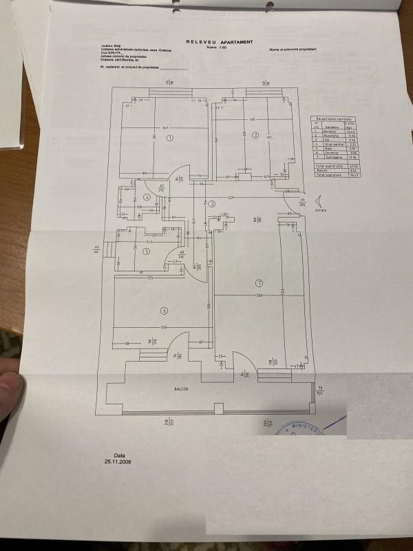3 decomandate, 77mp, Rovine - Posta , centrala termica, lift, etaj5