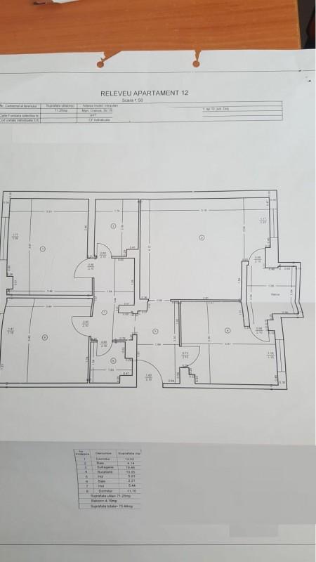 Vanzare apartament 3 camere decomandat, mobilat, etaj 4/4, an constructie 1980, 1 Mai, zona Sara